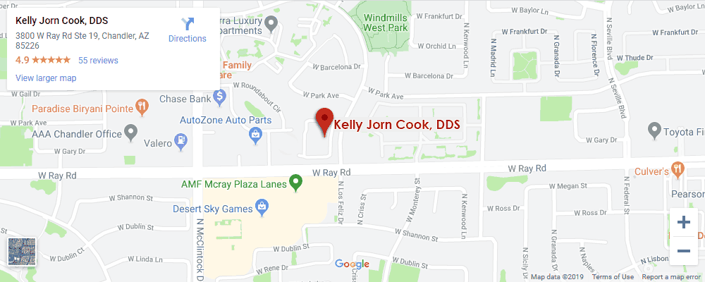 Google map for Kelly Jorn Cook, DDS